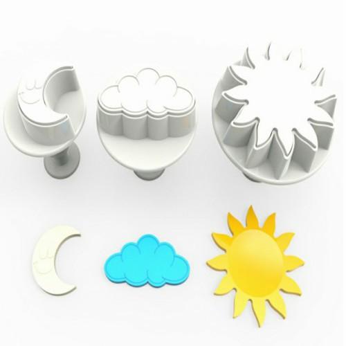 Ay Güneş Bulut Gökyüzü Temalı Basmalı Kopat 3lü Set